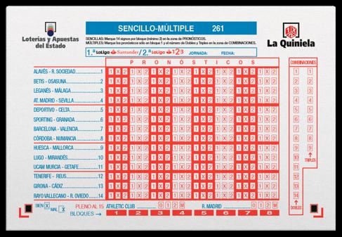 Boleto de juego de La Quiniela